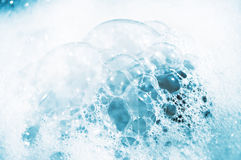 White-blue lather bubbles. White-blue lather large bubbles royalty free stock images