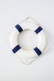 White and blue lifebuoy Royalty Free Stock Image