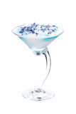 White-blue martini cocktail Stock Photos