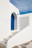 White-blue national architecture on Santorini island, Greece Stock Images