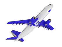 White blue passenger airliner Royalty Free Stock Photo