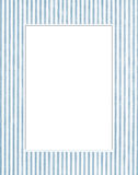 White & blue photo frame. Isolated white and blue photo frame with vertical lines Stock Image