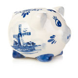 White and blue piggy bank Royalty Free Stock Photo