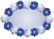 White Blue Pompom Background Stock Photography