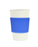 White and Blue Porcelain Cup on White Royalty Free Stock Photos