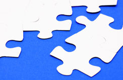 White blue puzzle Stock Photography