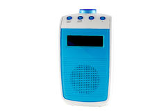 White and blue radio Stock Photo