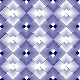 White and blue rhomboid regular patterns in inverse repeating design Royalty Free Stock Photo
