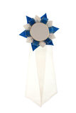 White and blue ribbon. Isolated Royalty Free Stock Photography