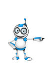 White & Blue Robot Character Royalty Free Stock Photo