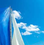 White and blue sails Royalty Free Stock Photos