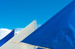 White and blue sails Royalty Free Stock Photo