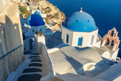 White-blue Santorini Stock Images