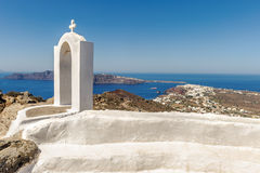 White-blue Santorini Stock Image