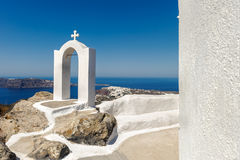White-blue Santorini Royalty Free Stock Image