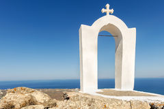 White-blue Santorini Royalty Free Stock Photo
