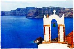 White-blue Santorini Royalty Free Stock Photo