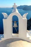 White-blue Santorini church bell Stock Photography