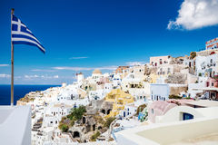 White-blue Santorini Royalty Free Stock Photos
