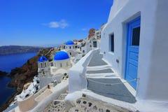 White and blue of Santorini, Oia village Stock Photo