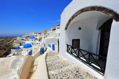 White and blue of Santorini, Oia village Stock Photography