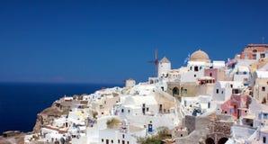 White-blue Santorini Stock Image