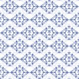 White-blue seamless pattern () Stock Image