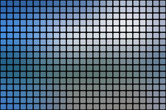 White blue shades abstract rounded mosaic background over black Stock Image