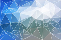 White blue shades geometric background with mesh. stock image