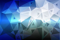 White blue shades random sizes low poly background stock images