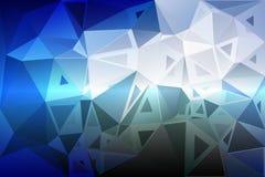 White blue shades random sizes low poly background Stock Images