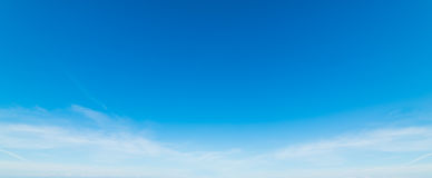 White and blue sky. Blue sky with white, soft clouds Stock Photo
