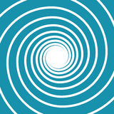 White on blue spiral swirl. Hypnotic vector illustration Royalty Free Stock Photos