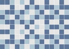White and blue square ceramic tiles stock photo