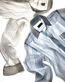 White and blue striped shirt Royalty Free Stock Images
