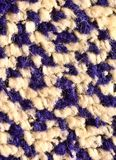 White and blue textile fibres Royalty Free Stock Images