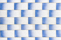 White and Blue Texture Tiled floor for background. Stock Image