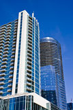 White and Blue Towers on Blue Sky stock image