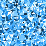 White and blue triangle winter mosaic background Royalty Free Stock Photos