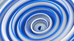 White blue twisted 3D shape. White blue twisted shape. Computer generated abstract 3D render illustration vector illustration