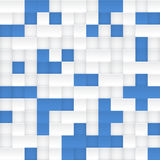 White and blue vector mosaic seamless pattern Royalty Free Stock Photo