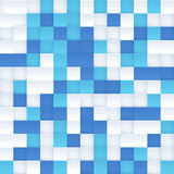 White and blue vector mosaic seamless pattern Royalty Free Stock Image