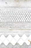 White and blue vintage tiles Royalty Free Stock Photos