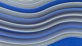 White and blue wavy curves abstract 3D rendering. White and blue wavy curves. Abstract 3D rendering Stock Illustration