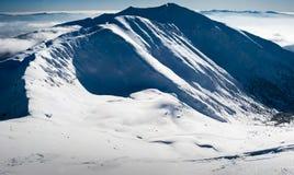 White blue winter panorama Stock Photos