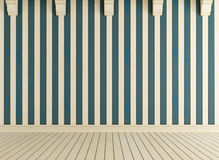 White and blue wooden room Royalty Free Stock Photos