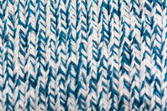 White and blue woolen threads Royalty Free Stock Photo