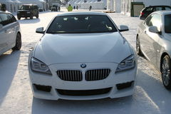 White BMW 6 type Stock Images