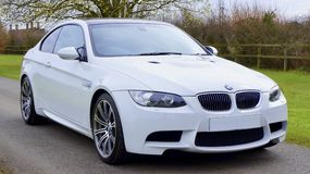 White Bmw Coupe Royalty Free Stock Photography
