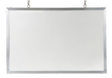 White board. Isolated over white background Royalty Free Stock Photography